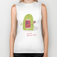 shoe Biker Tanks featuring Shoe Monster by Firecatcher