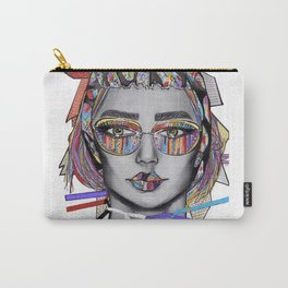 Colorful textile fashion illustration Carry-All Pouch