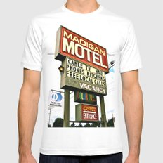 American Motel Sign MEDIUM White Mens Fitted Tee