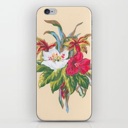 Red and White Bouquet iPhone Skin