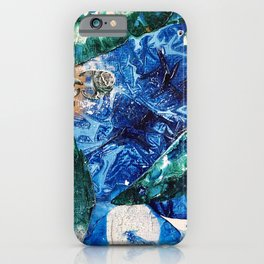 Baby Manatee taking a swim, Tiny World Environmental.jpg iPhone Case