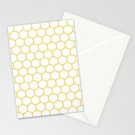 Honeycomb (Light Orange & White Pattern) Stationery Cards