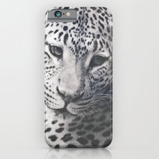 LEOPARD PHOTOGRAPH - BLACK AND WHITE Slim Case iPhone 6s