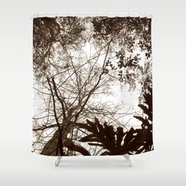 Memories of Endor 2 (B&W) Shower Curtain