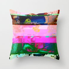Creature Glitch Throw Pillow