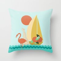 florida Throw Pillows featuring Florida by Tank Top Sunday