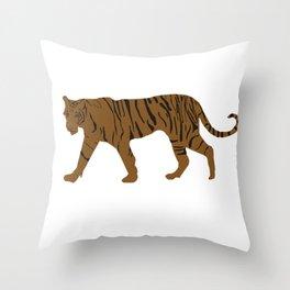 Brown Tiger Throw Pillow