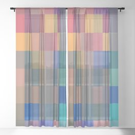Imperfect Rectangles Sheer Curtain