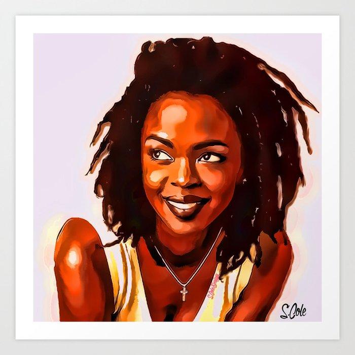 b5be7b59f Lauryn Hill Art Print by scoledesignz | Society6