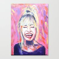 allyson johnson Canvas Prints featuring Betsey Johnson by AntiPosi
