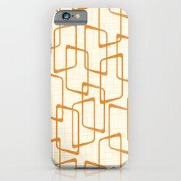 Retro Reverse Orange Geometric Pattern iPhone Case