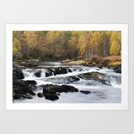Autumn on the River Affric Art Print