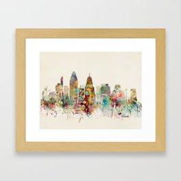 cincinnati skyline Framed Art Print