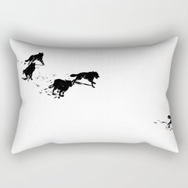 snowblinded // (wolf pack) Rectangular Pillow