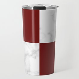 marble and red tiles Travel Mug