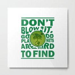 Save Our Planet Metal Print