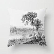 Lake Champlain 1850 Throw Pillow