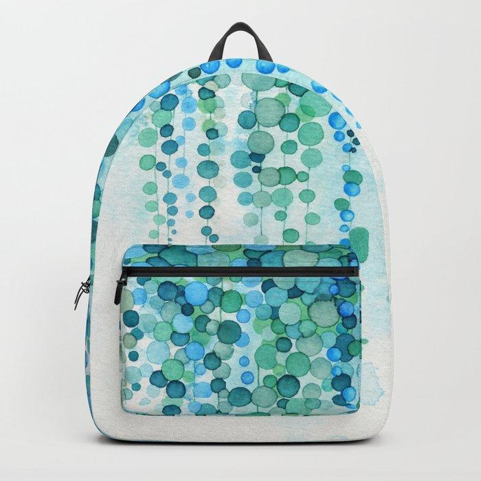 String of Pearls Watercolor Backpack