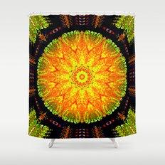 Citrus Slice Kaleidoscope Shower Curtain