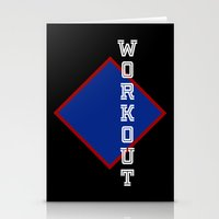 workout Stationery Cards featuring WORKOUT by Gravityx9