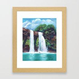 Wailua Falls Framed Art Print