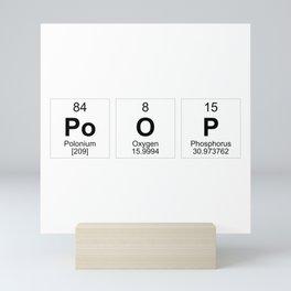 Poop Periodic Table Mini Art Print
