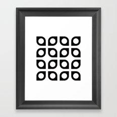 Curved circle pattern Framed Art Print
