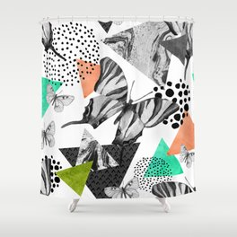 Abstract natural geometric seamless pattern Shower Curtain