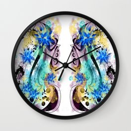 Surf Board tat - Double - White  Wall Clock