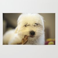 moriarty Area & Throw Rugs featuring Moriarty & The Bully Stick by Mitch Tuckness