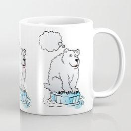 Polar bear on an ice floe Coffee Mug