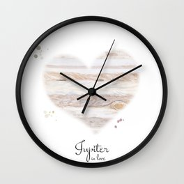 Jupiter in love Wall Clock