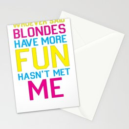 BRUNETTES HAVE MORE FUN T-SHIRT Stationery Cards