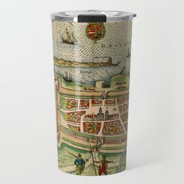 Map Of Calais 1649 Travel Mug