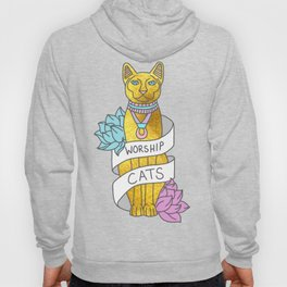 Cats Egypt Pyramid Gold Kitten Pets tabby tumblr gold typography kawaii meow print Hoody