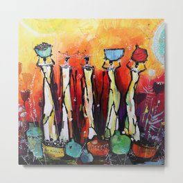 African Tribal Women Metal Print