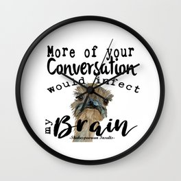 Infectious Conversation Wall Clock