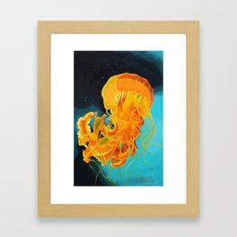 Orange Jellyfish Framed Art Print