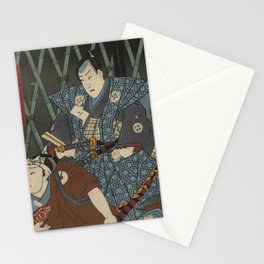 2 Samurais (Japanese soldiers) Ukiyo-e Stationery Cards