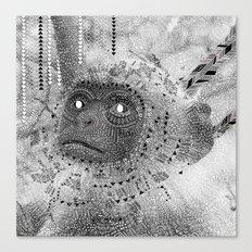 Pow Wow moneky Canvas Print