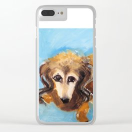 My dog the Dachshund Clear iPhone Case