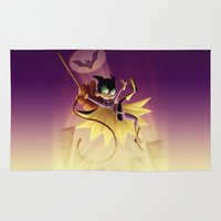 batgirl Area & Throw Rugs featuring Batgirl by Eileen Marie Art
