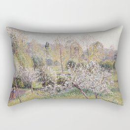 Camille Pissarro - Apple Trees In Blossom  Eragny Rectangular Pillow