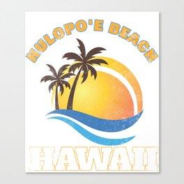 Hawaii Hulopoe Beach Vacation T-Shirt Hawaiian Islands Tee Canvas Print