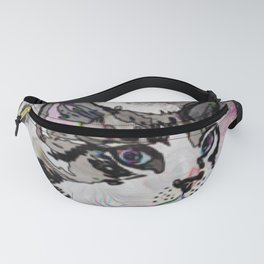 Siamese with Abstract Background & Black Edging Fanny Pack