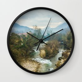 Mountain river Sella Wall Clock