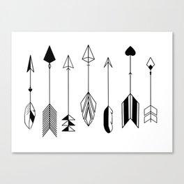 Be Brave Little Arrow Canvas Print
