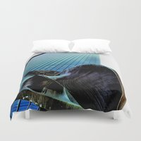 millenium falcon Duvet Covers featuring Masterpiece Millenium by Julie Maxwell