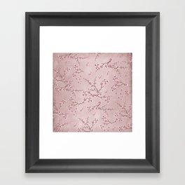 SAKURA LOVE - BALLERINA BLUSH Framed Art Print