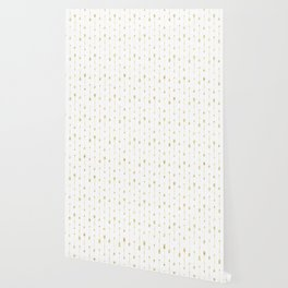 White And Gold Glitter Arrow Pattern Wallpaper